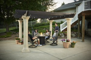 'Tuscany' pergola photo courtesy of Outdoor GreatRoom Company