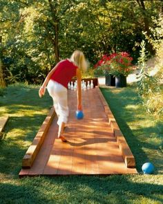 Backyard bowling - one of the most popular outdoor games